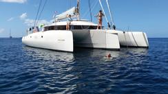 The Caribbean on a cruising trimaran, nothing but fun!