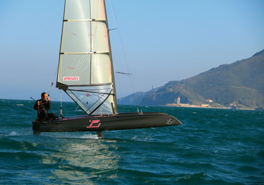 The iFly 15 is capable of sailing on its foils from 10 knots of wind, and is surprisingly stable.
