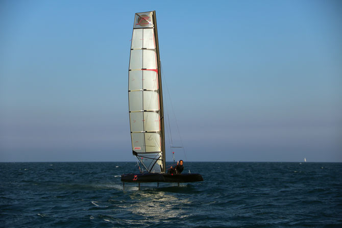 Michael Miller has perfected a thick sail which is high-performance, reliable and easy to use.