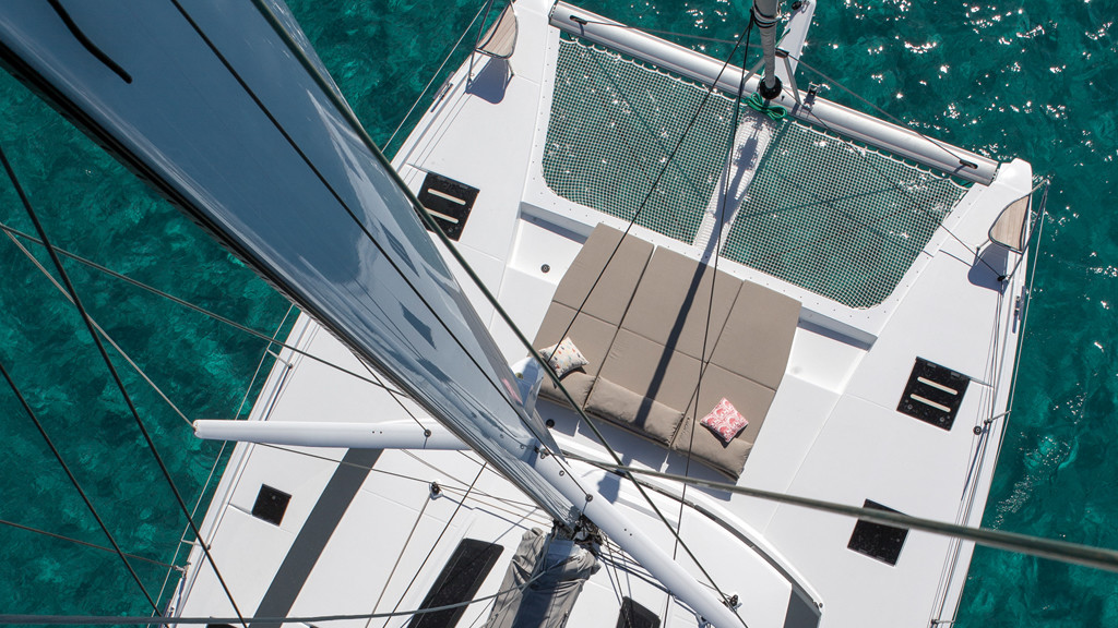 Lounge deck, beach club and other sunbathing areas all have their place on a catamaran dedicated to enjoyment