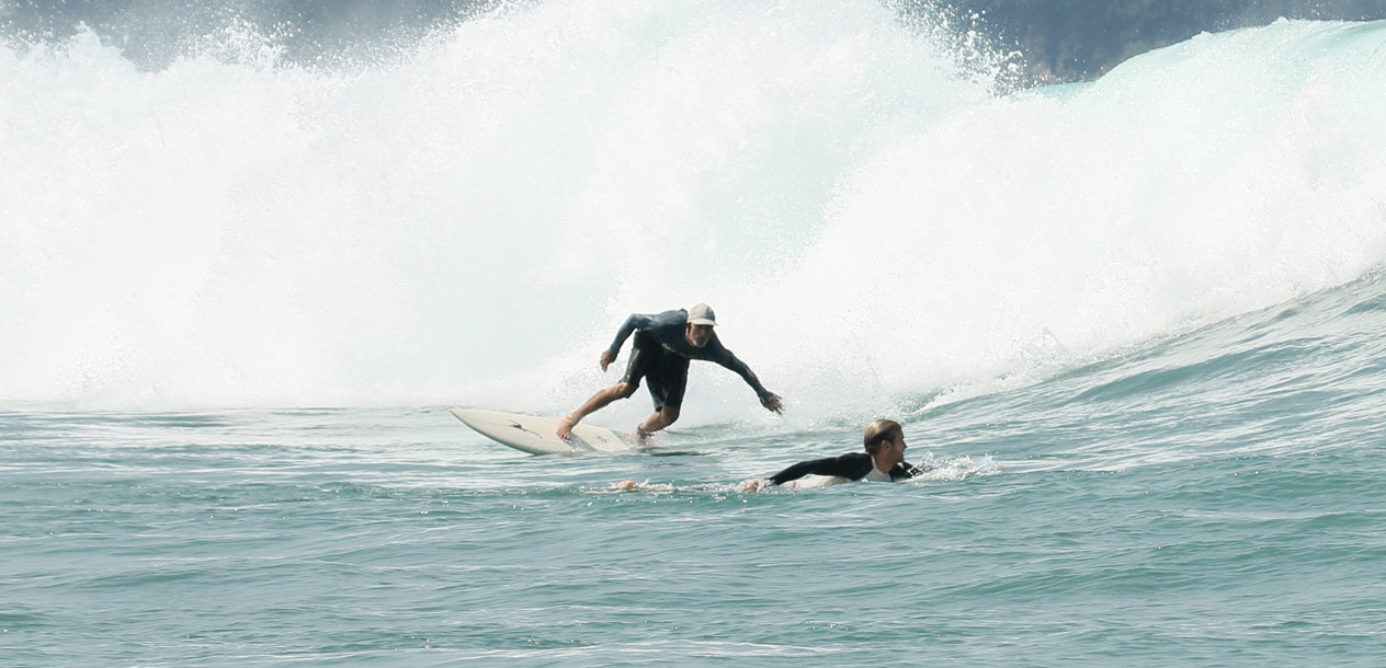 The aim was to find some good surf spots...