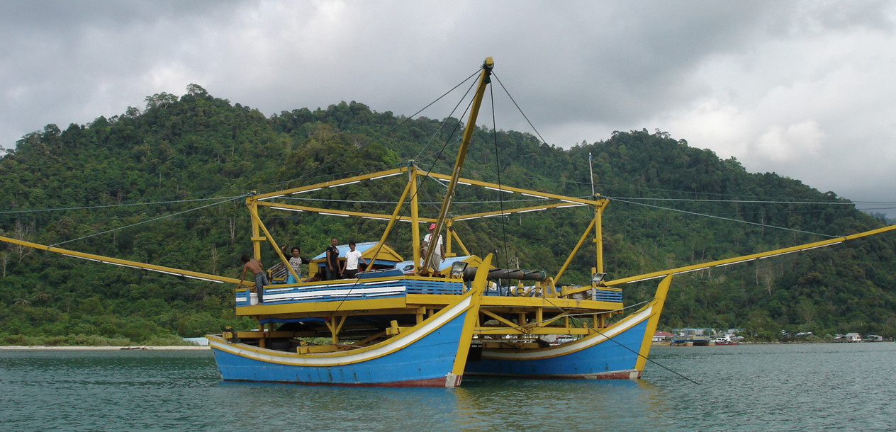 The famous catamaran fish platforms we found throughout our trip.