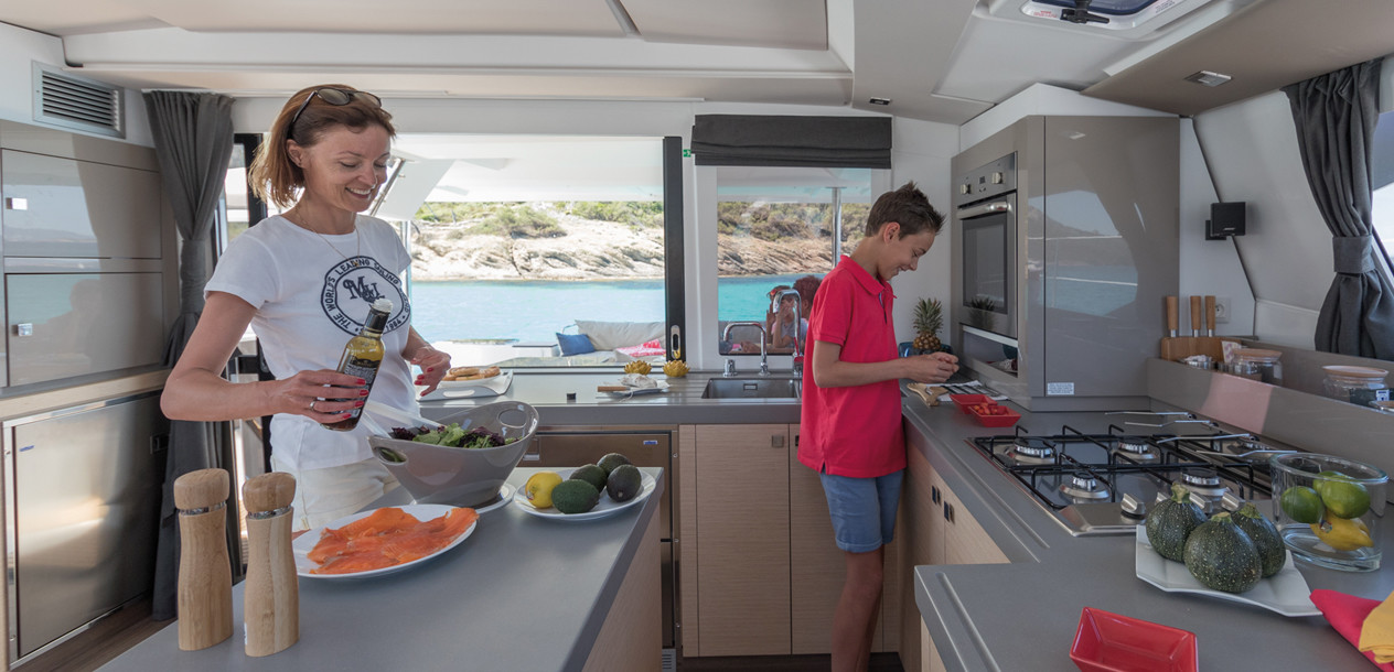 The nacelle puts the emphasis on the galley – too much perhaps?