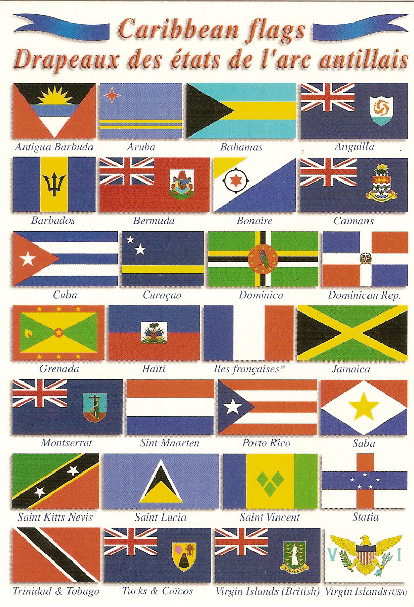 Before setting off for the Caribbean, it's essential to have courtesy ensigns for every country you'll be visiting.
