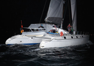 Charm: an Outremer 55 light racing the ARC.