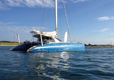 Casa Marisss, a catamaran which hasn't lost her bearings (especially north)!