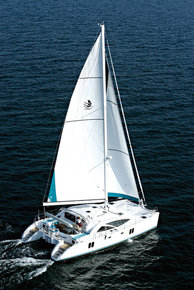 John Charnley catamaran main sail Discovery 50