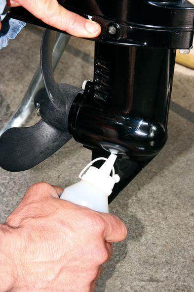 Maintaining your outboard motor step 7