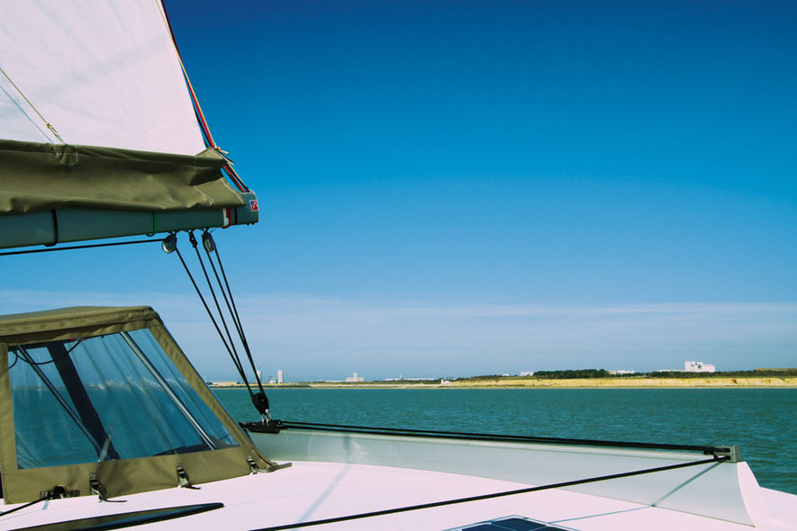 Setting the mainsail step 12