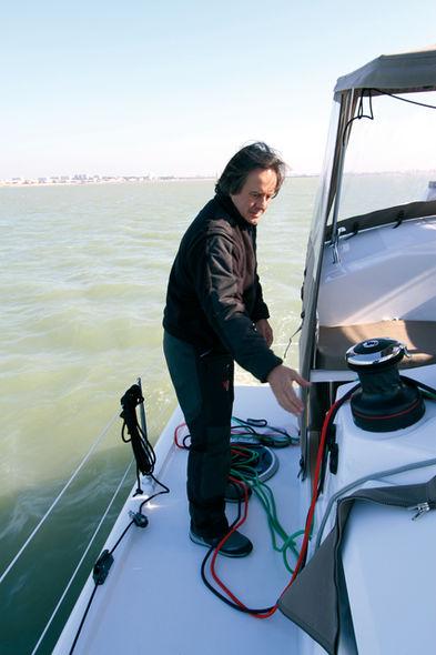 Setting the mainsail step 6