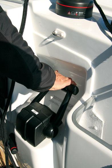 Setting the mainsail step 9