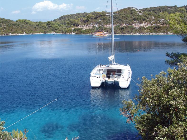 Catamaran cruising in Croatia