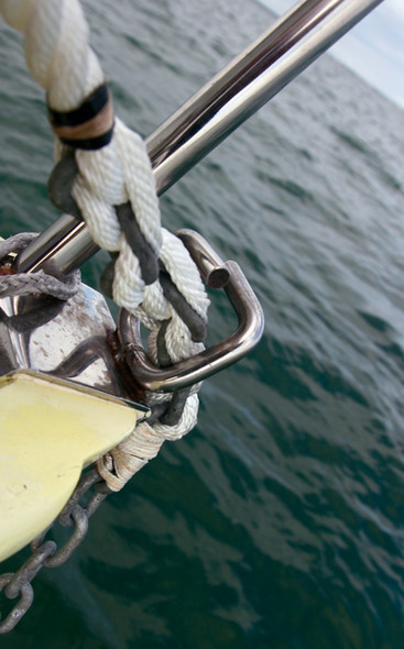 Chain/rope splice for the anchor rode