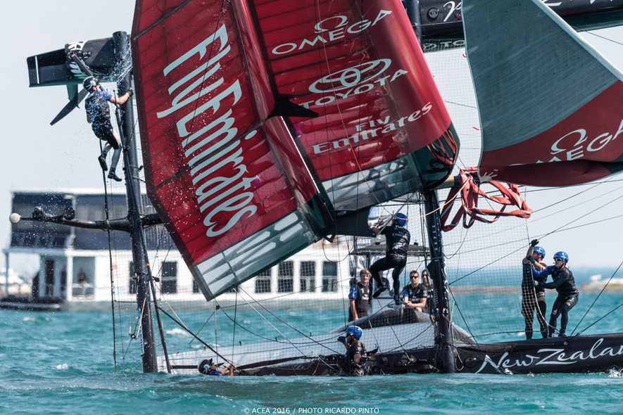 America's Cup - capsize