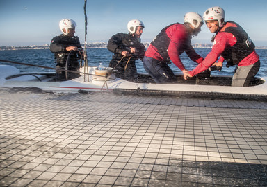 America's Cup: we sail on board the GROUPAMA AC45 Test FAST AND FURIOUS!