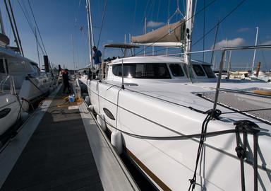 Catamaran basics Leaving the quay under engine