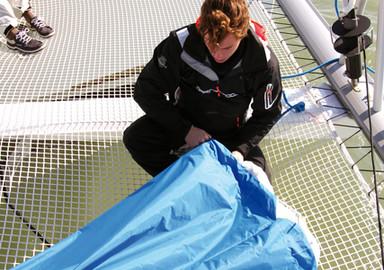 Catamaran basics Setting the gennaker