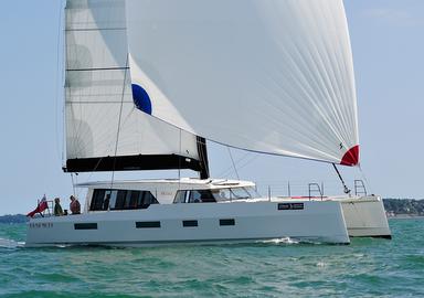 Video: sailing aboard the new Broadblue Rapier 550 catamaran