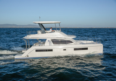 The video of our test aboard the Leopard 43 Power Catamaran