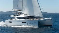 Fountaine Pajot Catamarans' Helia 44 and Saba 50 at the Miami Boat Show 2015