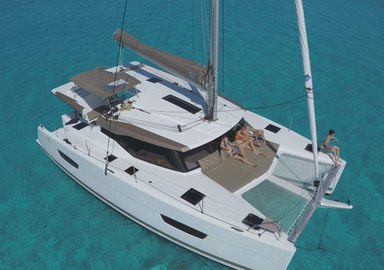 Video: the first images of our test onboard the Fountaine Pajot Lucia 40 catamaran