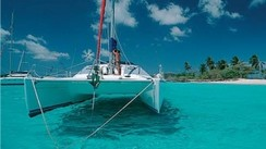 Spend your Xmas and New's Year vacation aboard a cat, in Martinique, with Vent Portant