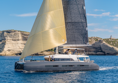 Video: the first images of our test onboard the Lagoon SEVENTY 7 catamaran