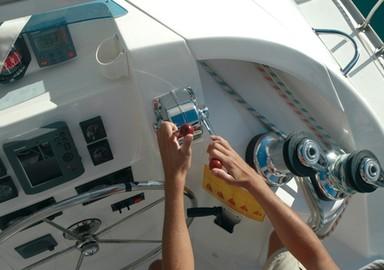 Hoisting the sails