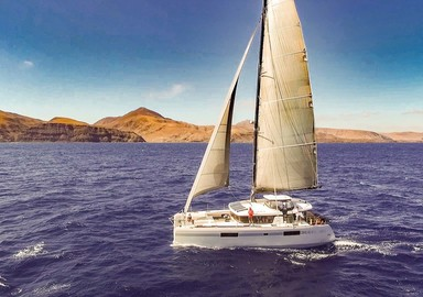 Cat'Leya, a comfortable Lagoon 52 ST… and a fast one!
