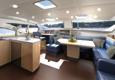 A new catamaran at Discovery Yachts