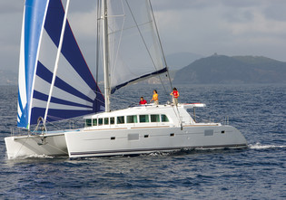 Lagoon 500 One of the best choices for getting started.   And with a flybridge as an added bonus!