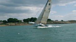 SEACART 30' Ecstasy on a flying trimaran
